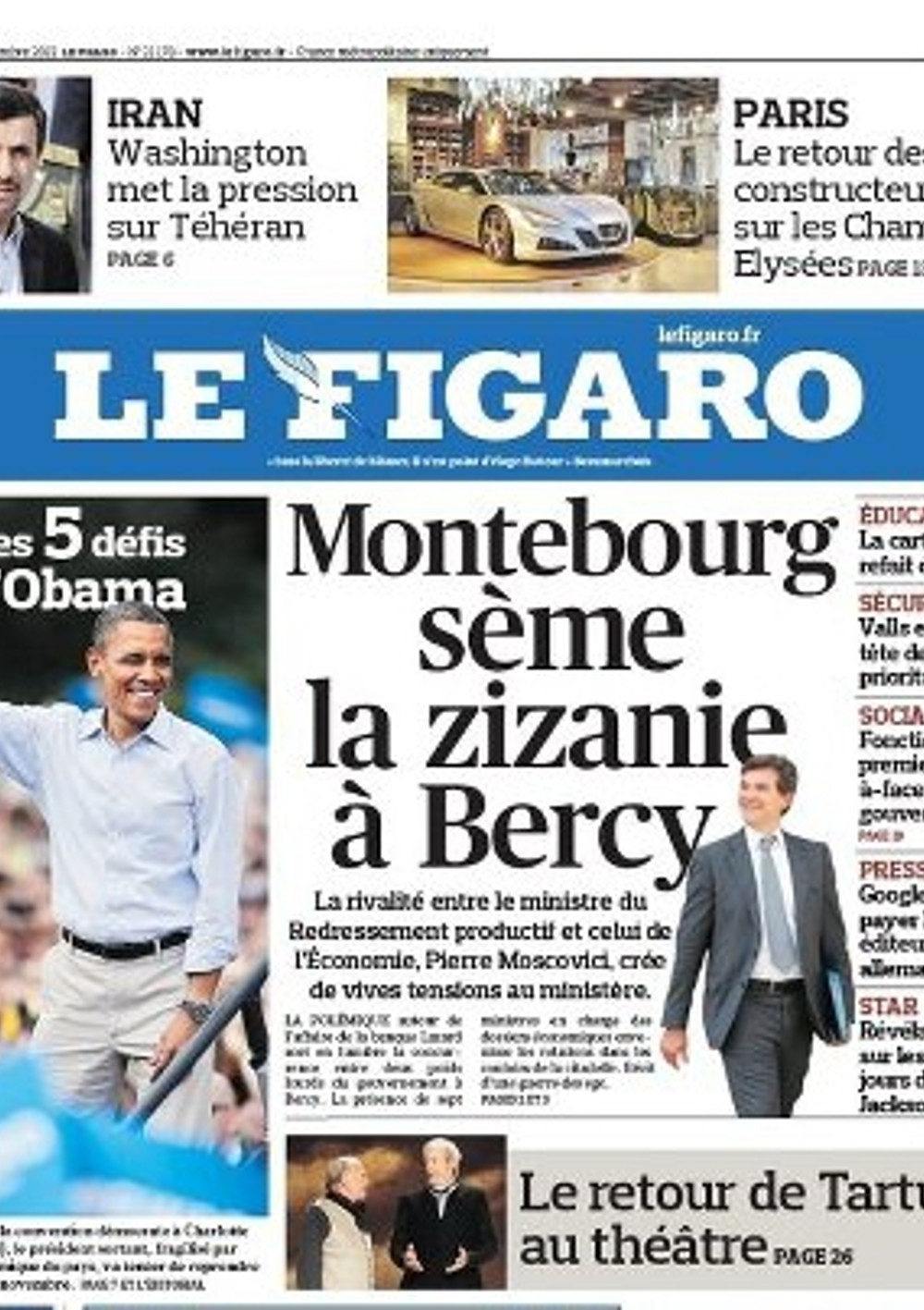 4th September 2012 BGYB Press Article Le Figaro